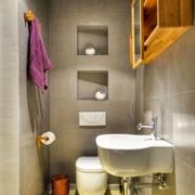 暖色调卫生间整体设计