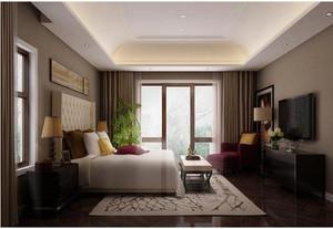东南亚别墅卧室飘窗装修效果图