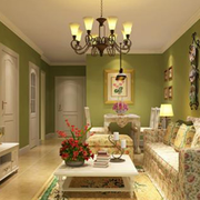 暖色调客厅整体图