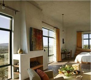 美式别墅卧室飘窗装修效果图