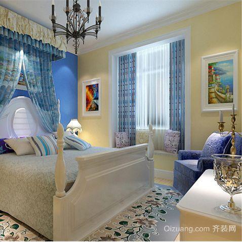 地中海卧室飘窗装修效果图