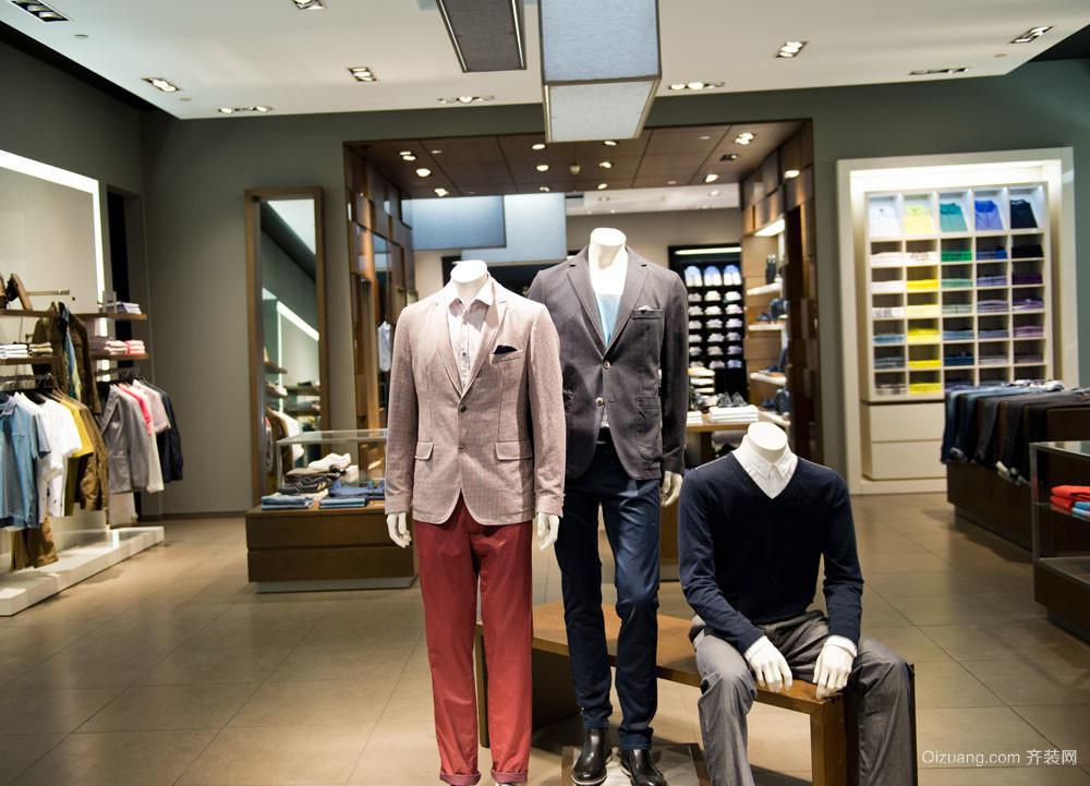 男士的衣柜 现代潮流服装店装修效果图鉴赏