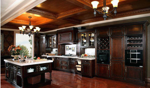 90平米美轮美奂的欧式厨房整体橱柜装修效果图