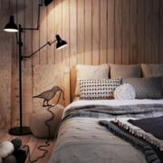 唯美的卧室灯光设计