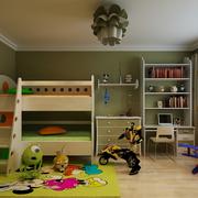 儿童房床铺造型图