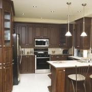 开放式厨房装修设计造型图