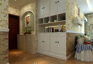 美丽大方的田园风格的鞋柜设计装修效果图大全