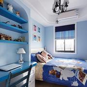 儿童卧室背景墙装修飘窗图