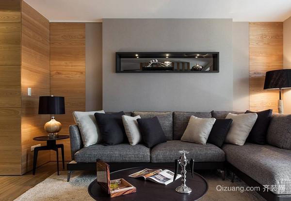 90平米现代简约风格2居室装修效果图