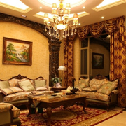 欧式客厅灯光设计