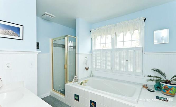 地中海风格百叶窗浴室装修效果图