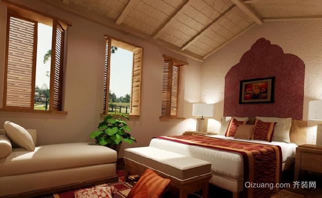 神奇瑰丽的东南亚风格卧室背景墙装修效果图欣赏