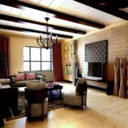 客厅吊顶造型图