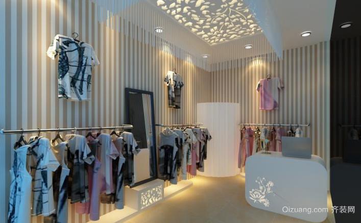 2015都市简约大的服装店装修效果图