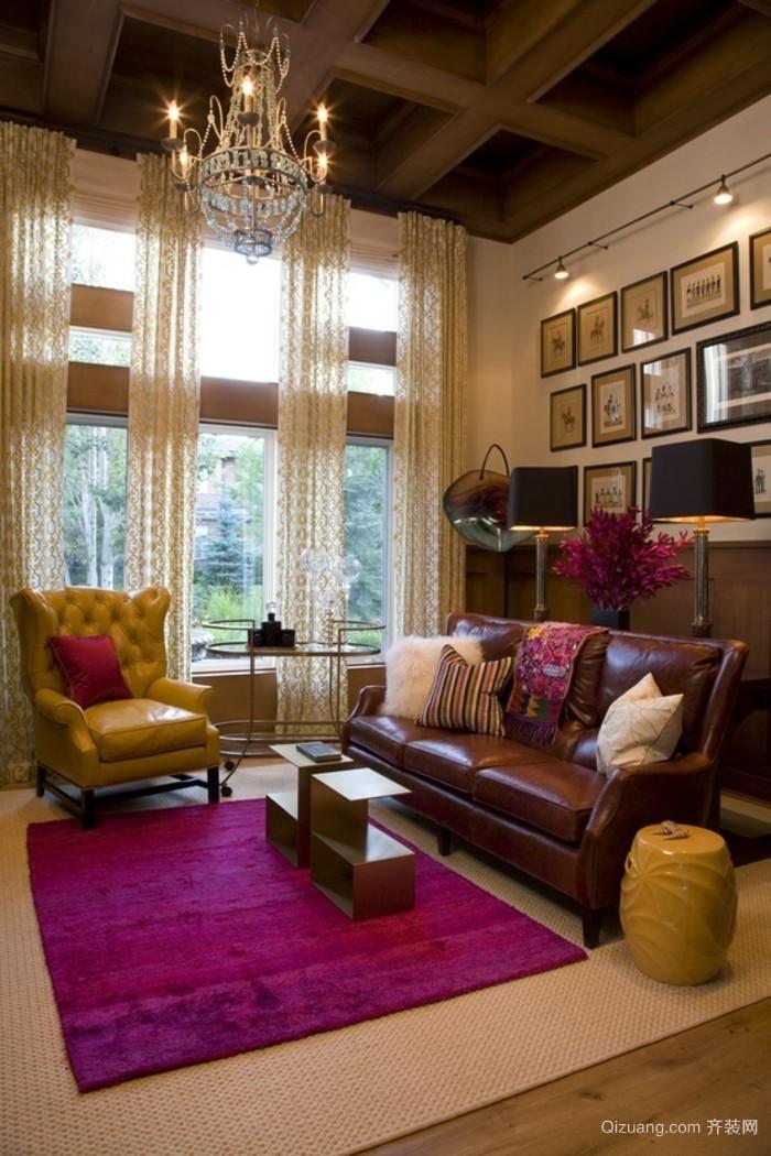 2015美式客厅装修效果图大全