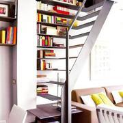 现代客厅书柜效果图
