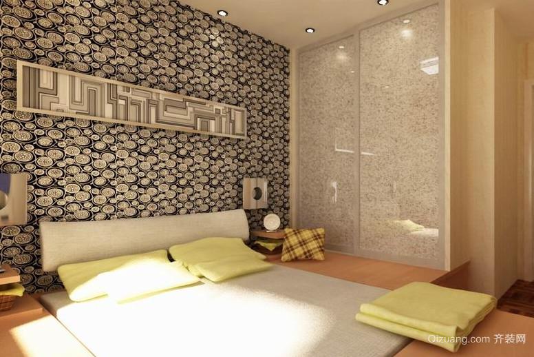 90平米超有感觉的日式榻榻米卧室装修效果图