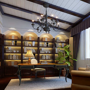 书房设计窗帘图