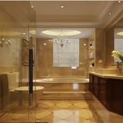美式风格卫生间装修背景墙图