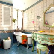 现代浴室整体图