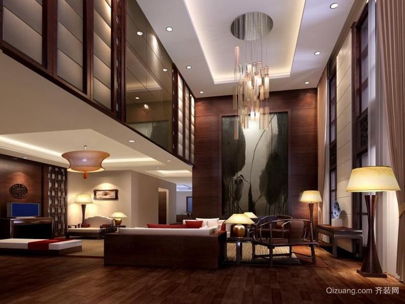 富丽堂皇的大户型别墅中式客厅装修效果图大全