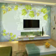 客厅3d电视背景墙装修唯美图