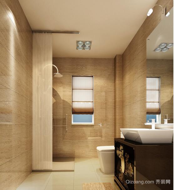 2015单身公寓现代卫生间设计装修效果图