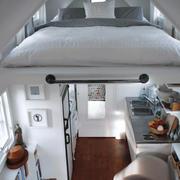 冷色调单身公寓效果图