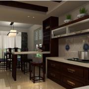 开放式厨房装修设计灯光设计