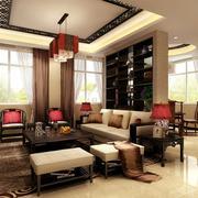 客厅内部窗帘设计