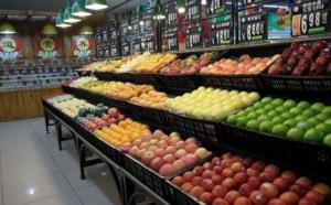 100平米水果店柜台装修效果图
