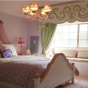 精致卧室飘窗造型图