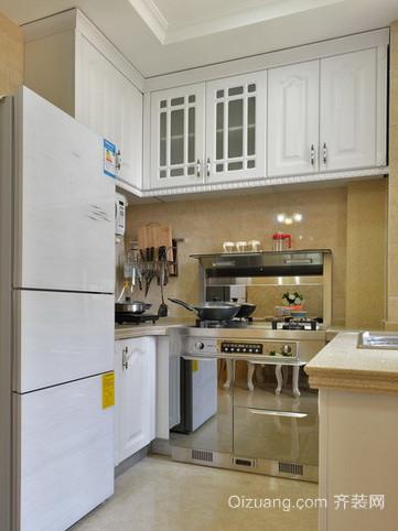 颇有小资情调的简欧式小厨房装修效果图