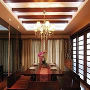 客厅吊顶装修隔断图