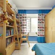 儿童房飘窗装修吊顶图