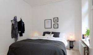 50平米北欧风格卧室背景墙装修效果图