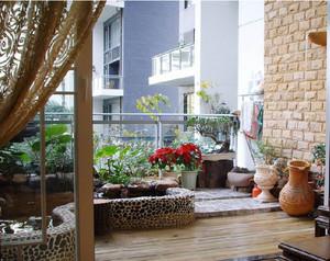 2015简约都市单身公寓阳台装修效果图