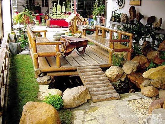 清新自然的别墅型入户花园装修效果图