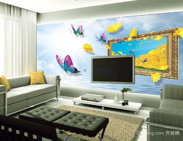 形象逼真的客厅3d电视背景墙装修效果图