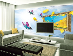 客厅3d电视背景墙装修效果图