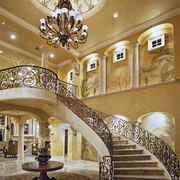 旋转楼梯装修造型图