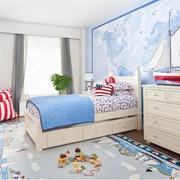 儿童卧室背景墙装修整体图