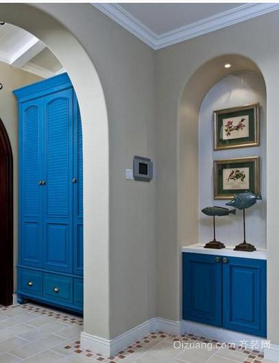 地中海别墅客厅玄关装修效果图