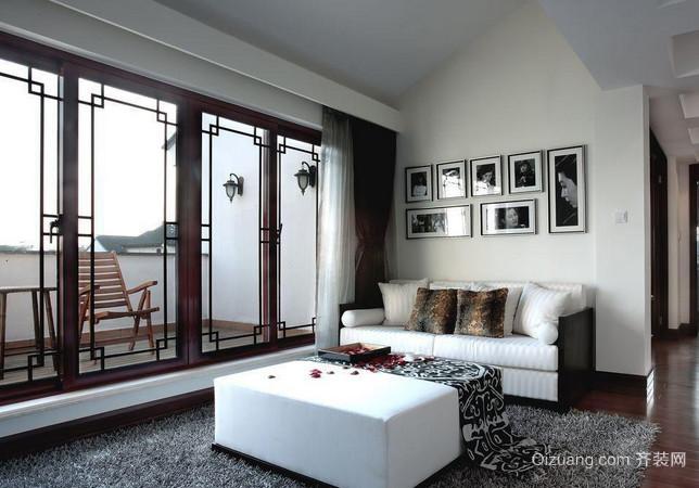 新中式简约园林家庭室内装修效果图