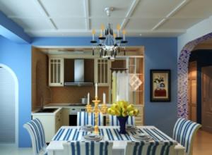 地中海风格小户型餐厅现代装饰画装修效果图