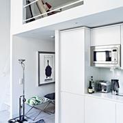 纯白色调单身公寓设计图