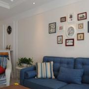 室内照片墙设计客厅图