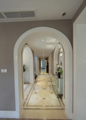 欧式奢华别墅室内过道地板拼花装修设计效果图