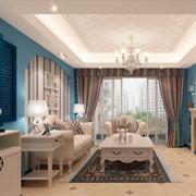 地中海风格客厅装修飘窗图