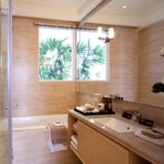 卫生间台盆柜装修飘窗图